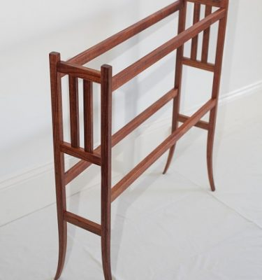'Lyre' timber towel rack 830mm